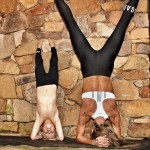 Yoga with mini headstand